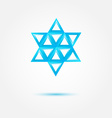 Abstract Jewish star made by triangles - symbol vector image