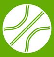 basketball ball icon green vector image