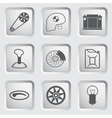 Car part and service icons set 2 vector image
