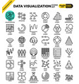 data visualization icon set vector image