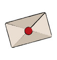 envelope close mail correspondance business vector image