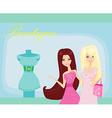fashion girls Shopping vector image