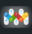 infographics with 5 steps or options colored vector image