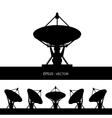 silhouette satellite dish vector image