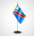 Table flag of Democratic Republic of the Congo vector image