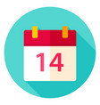 valentine day calendar circle icon vector image