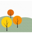 Simple Autumn Tree Background vector image vector image