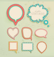 Vintage paper bubbles for speech vector image