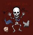 Playful skeleton vector image