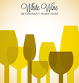 White wine list menu cover in format vector image vector image