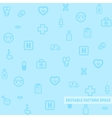 Seamless medical pattern with blue background vector image