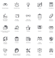 Manufacturing and distribution icon set vector image
