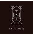 Art Deco Style Elegant Monogram - Design Template vector image