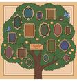 family tree two bird vector image