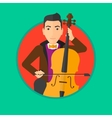 Man playing cello vector image