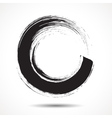Brush painted black ink circle vector image