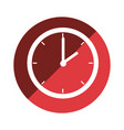 color circular emblem with wall clock vector image