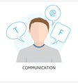 Communication Icon with Man vector image