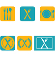 Cutlery flat design vector image
