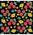 floral pattern retro seamless vector image