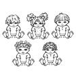 happy kids different races vector image
