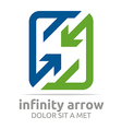 infinity arrow design symbol icon vector image