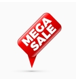 Mega sale banner limited time only vector image