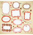 set of frames and decor elements vector image