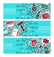 Set of Horizontal Banners about personal hygiene vector image