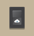 switch open cloud icon concept vector image vector image