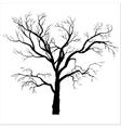 winter tree silhouette vector image