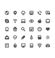 Media communication icons set vector image vector image