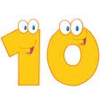 Number Ten vector image