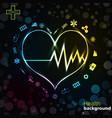 medicine black golden background vector image