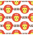2016 seamless pattern with stylized monkey head vector image