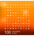 Set of 100 Icons for Web Design vector image vector image