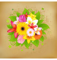 flower background on vintage paper vector image vector image