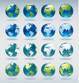 Set of world globe icons vector