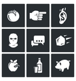 Shame ridicule icons vector image