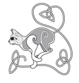Celtic Cat with heart knotted tail vector image