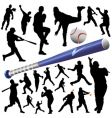 collection of baseball vector image