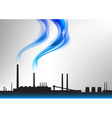 factory white curve blue vector image