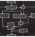 hand draw flowchart seamless background vector image