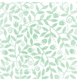 Leaves and swirls textile seamless pattern vector image