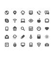 Media communication icons set vector image