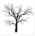 winter tree silhouette vector image