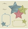 Background with decorative ornate stars vector image