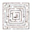 hand draw maze vector image vector image