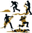Snake wrestler vector image