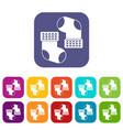 baby socks icons set flat vector image